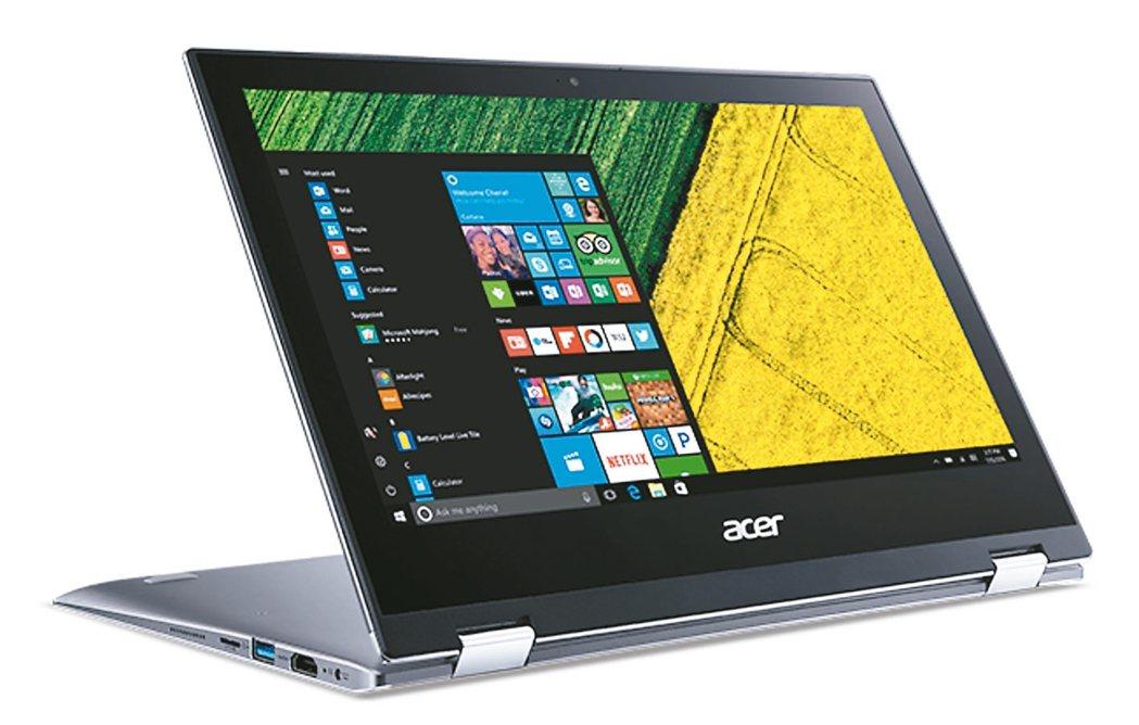 宏碁Acer Spin 1翻轉筆電,可精準地繪圖或筆記。 圖/宏碁提供