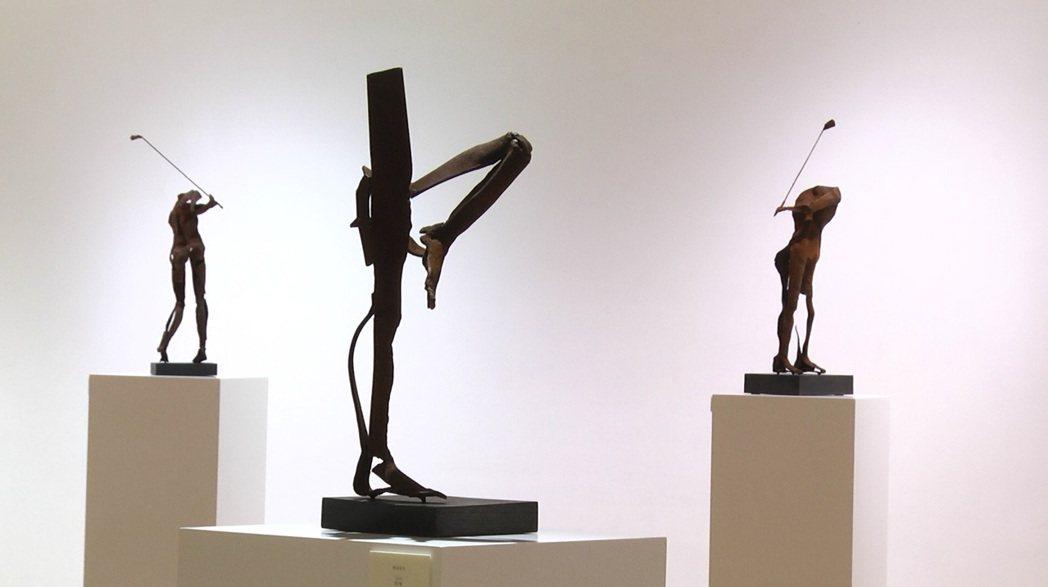聽障藝術家林良材七十歲回顧展展品。 林良材提供