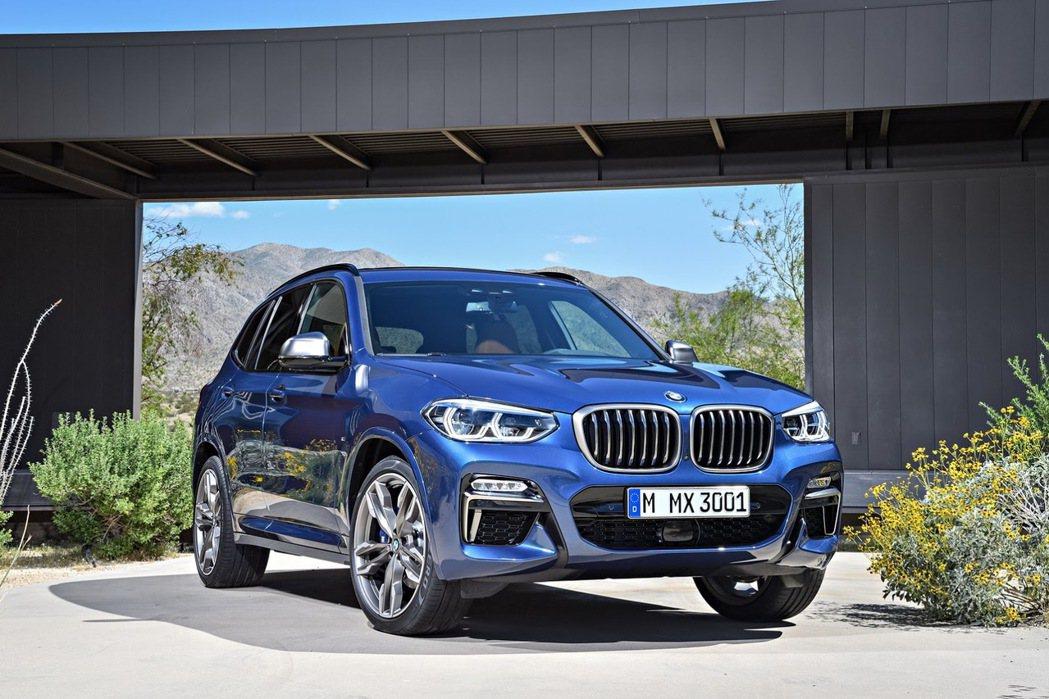 X系列在2017年相當熱賣,圖為全新BMW X3 (G01)。 摘自BMW