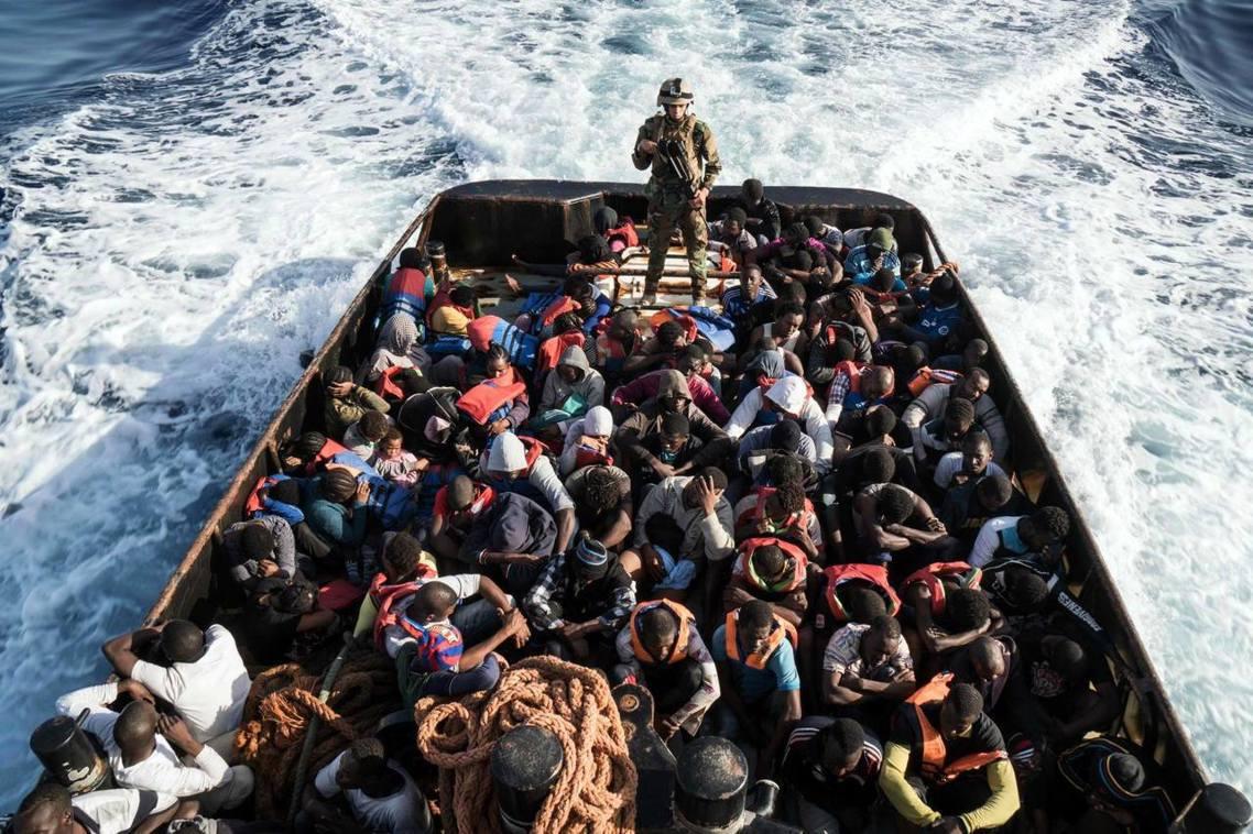 失敗的航程,返航利比亞的147名難民。 圖/法新社