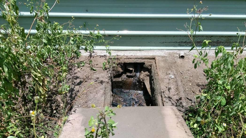 繞流廢水排放口。環保署提供