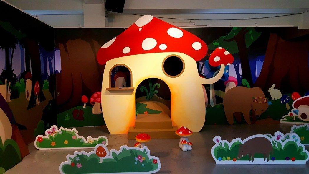 竹東動漫園區以密室逃脫概念打造「蘑菇森林保衛戰」正式上陣。圖/縣府提供