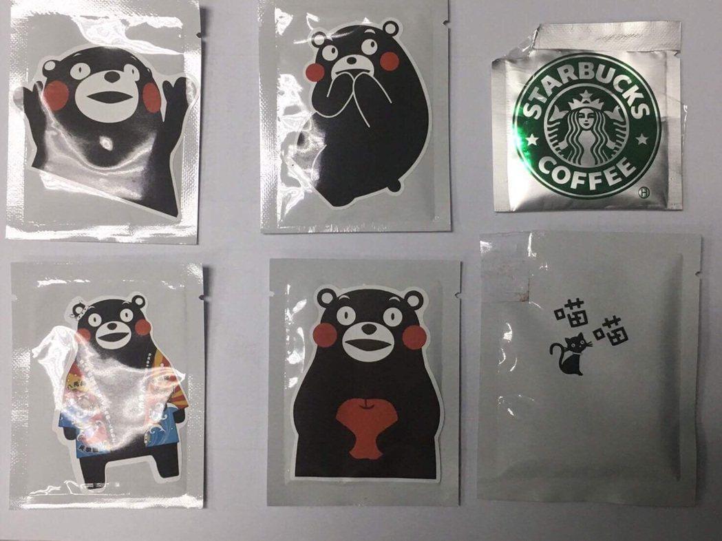 熊本熊可愛模樣深植人心,竟成為毒販用來吸引年輕族群製作為毒咖啡包包裝。記者劉星君...