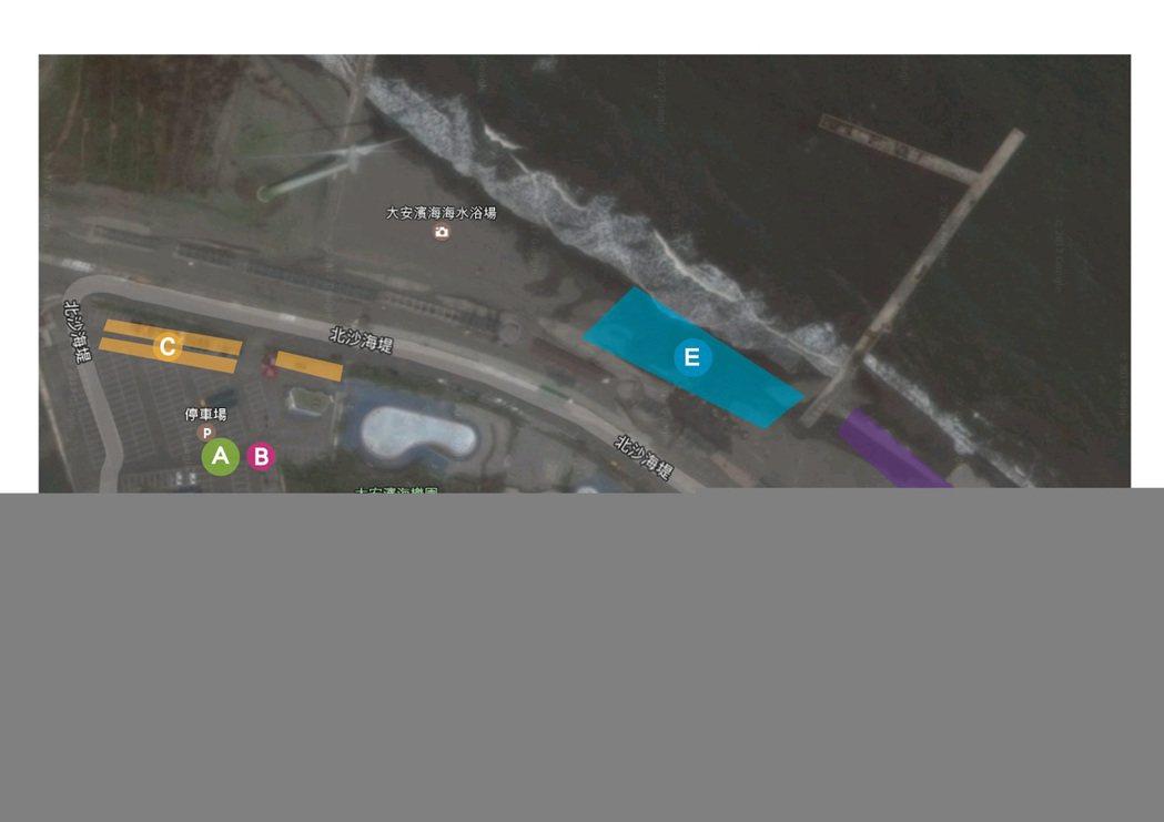 活動現場的區域配置圖,民眾可多加利用。圖/大甲分局提供