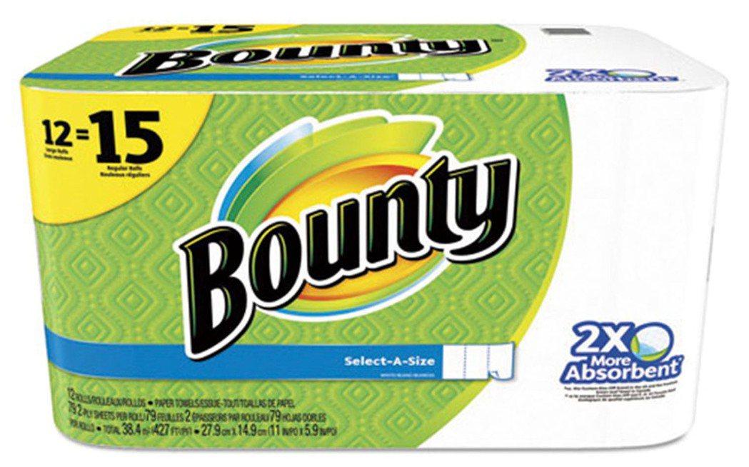 美國Bounty廚房紙巾。圖/家樂福提供