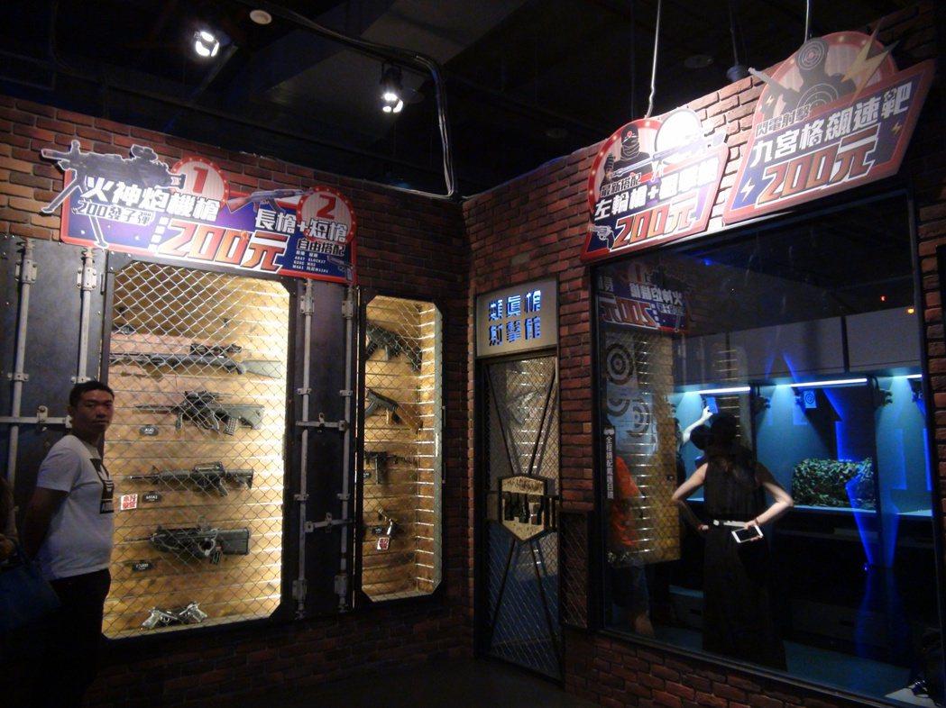 夢時代推出「PARK」玩樂園,有槍樂園及卡丁樂園。記者謝梅芬/攝影