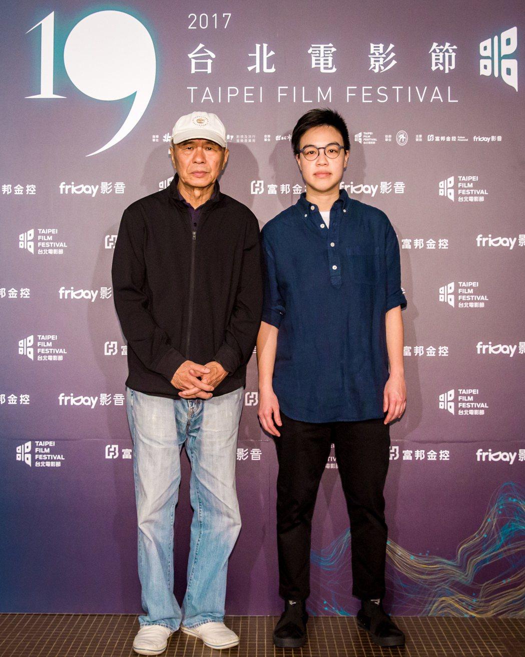 製片侯孝賢、導演黃熙出席「強尼‧凱克」台北電影節首映會。圖/台北電影節提供