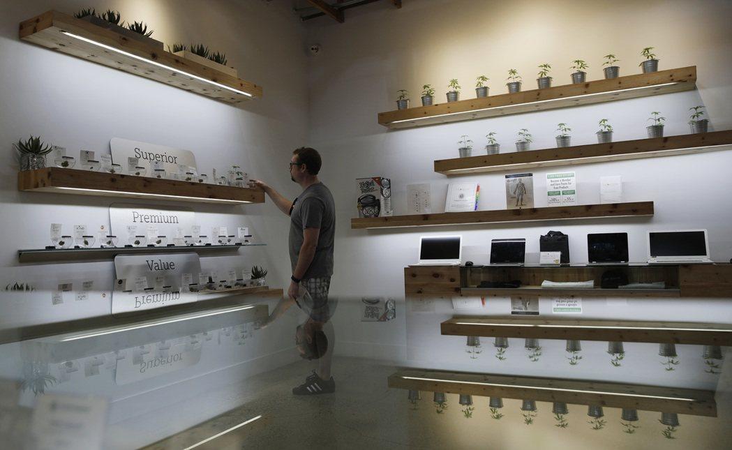 拉斯維加斯一間娛樂用大麻商店「資源」(The Source)。 美聯社