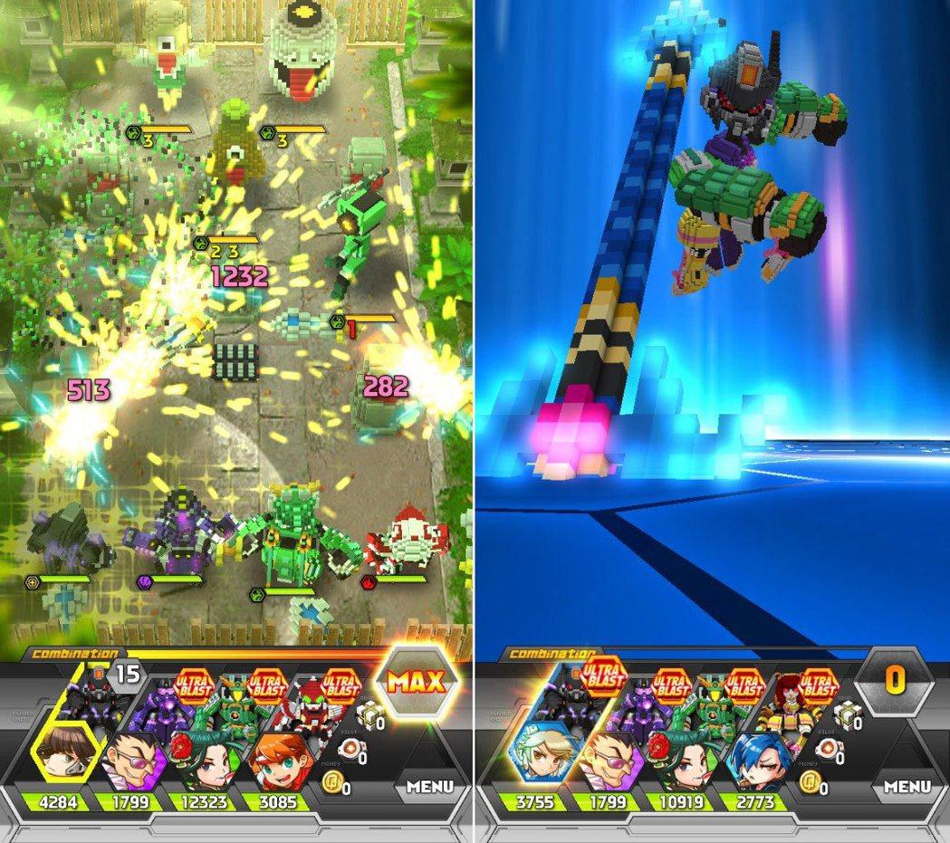 玩家藉由拉動機甲攻擊敵人,機甲駕駛員也會在定點施放華麗技能。