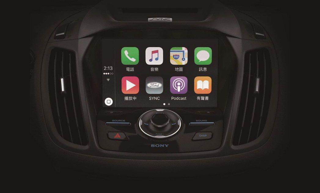 最新SYNC 3娛樂通訊整合系統。 圖/Ford提供