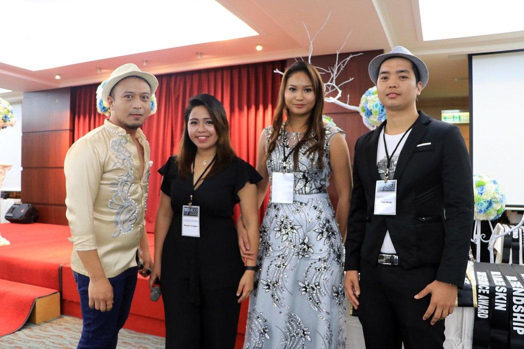 Roger(左起)、Dhalia、Rio、Allan是這場移工走秀的發起人。 記...