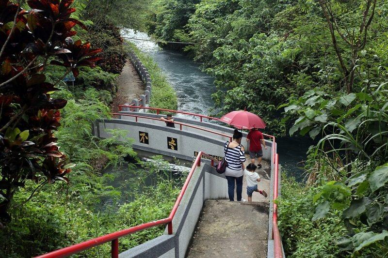 初英親水生態公園的水是從吉安大圳流下來的