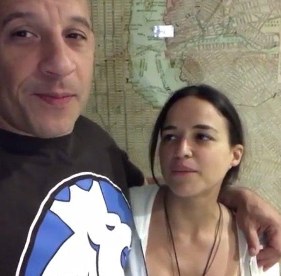 馮迪索與蜜雪兒羅德里奎茲。圖/摘自IG