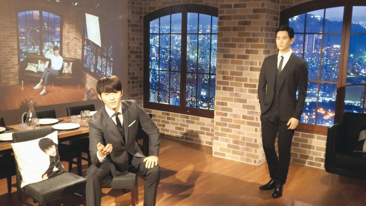 格雷萬蠟像館內最受歡迎的韓流偶像區。 記者李姿瑩/攝影