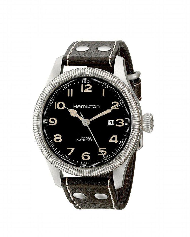 漢米爾頓卡其先鋒系列腕表,45毫米大表徑充分展現男人味,約29,900元。圖/H...