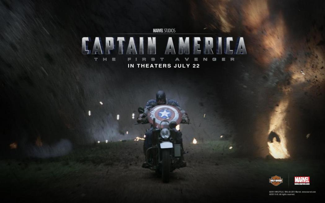美國隊長1出現的哈雷WLA摩托車,可說是最經典的軍用摩托車。 圖/Harley-...