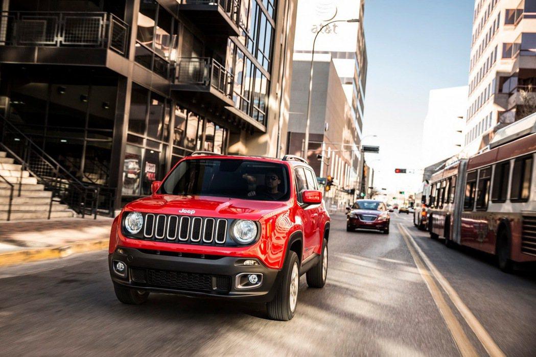 北美保費最便宜的第二名車款為 Jeep Renegade Sport。圖為 20...