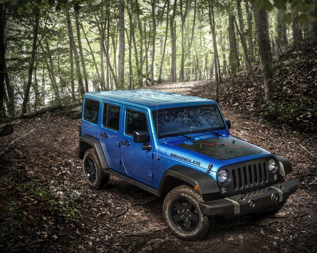 北美保費最便宜車款第三名為 Jeep Wrangler Black Bear。 ...