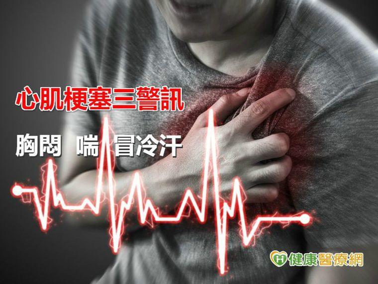 胸悶、喘、冒冷汗 是心肌梗塞警訊