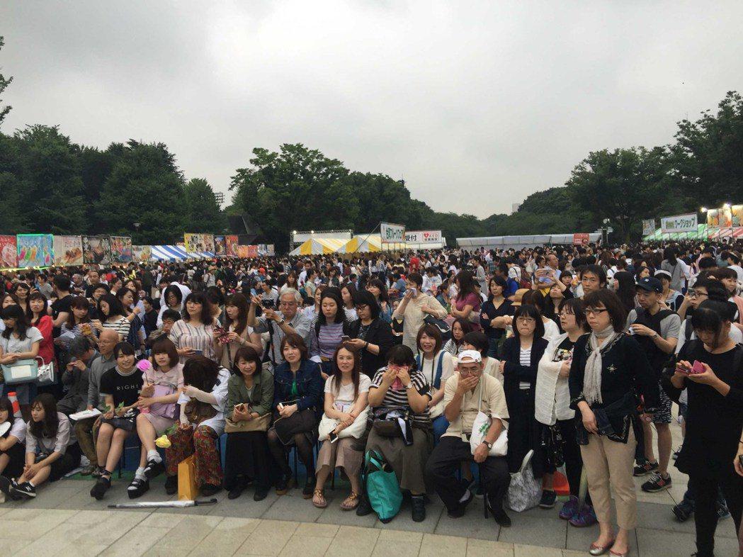 noovy 東京上野公園台灣祭演出迷倒櫻花妹。圖/伊林提供