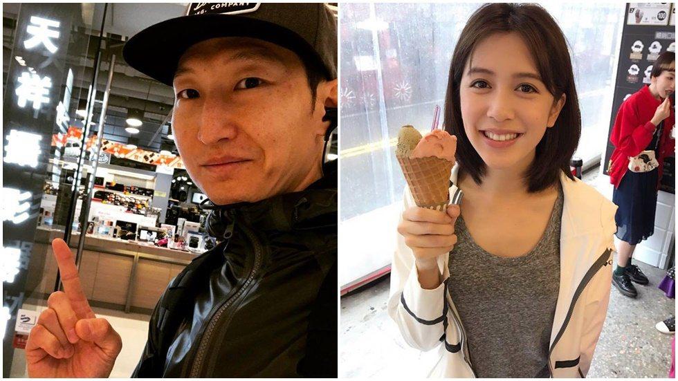 劉奕兒(右)與洪天祥(左)熱戀中。圖/摘自臉書
