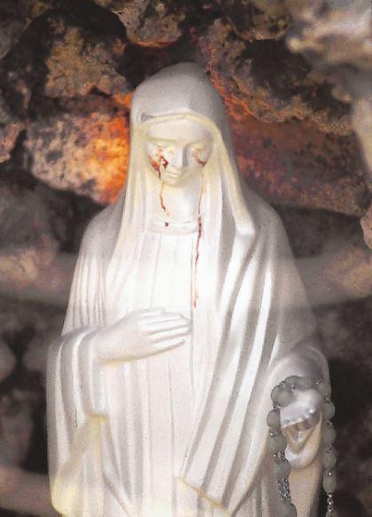 羅馬契維塔威克雅市聖母像流血淚,經調查報導仍判定為超自然神蹟。 (美聯社)