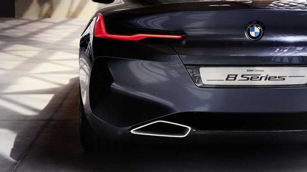 斜傾式梯形尾管。 摘自BMW