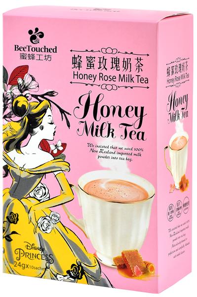 夢幻的迪士尼公主包裝,搭上甜而不膩的蜂蜜玫瑰奶茶,讓您飲一口就難以忘懷。圖由廠商...