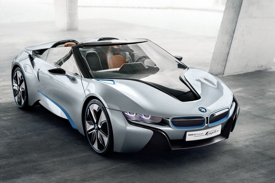 BMW於2012年發表的i8 Concept Spyder。 摘自BMW