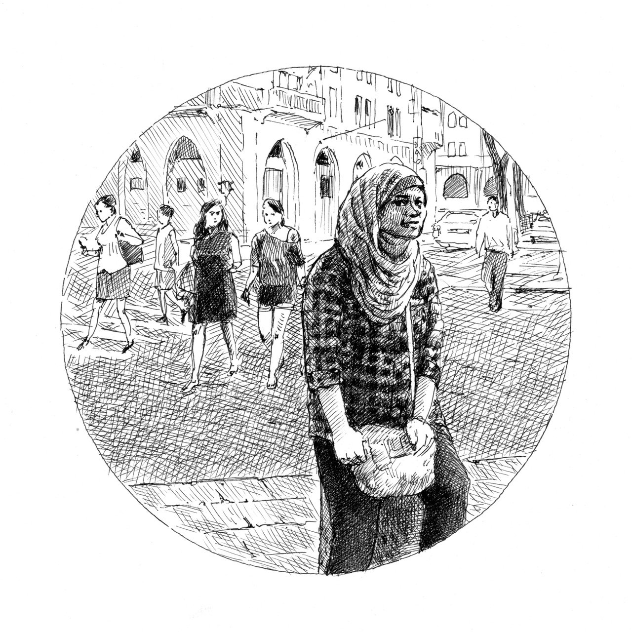 阿碧爾.阿尤卜於西耶路薩冷。圖/臺灣商務出版提供