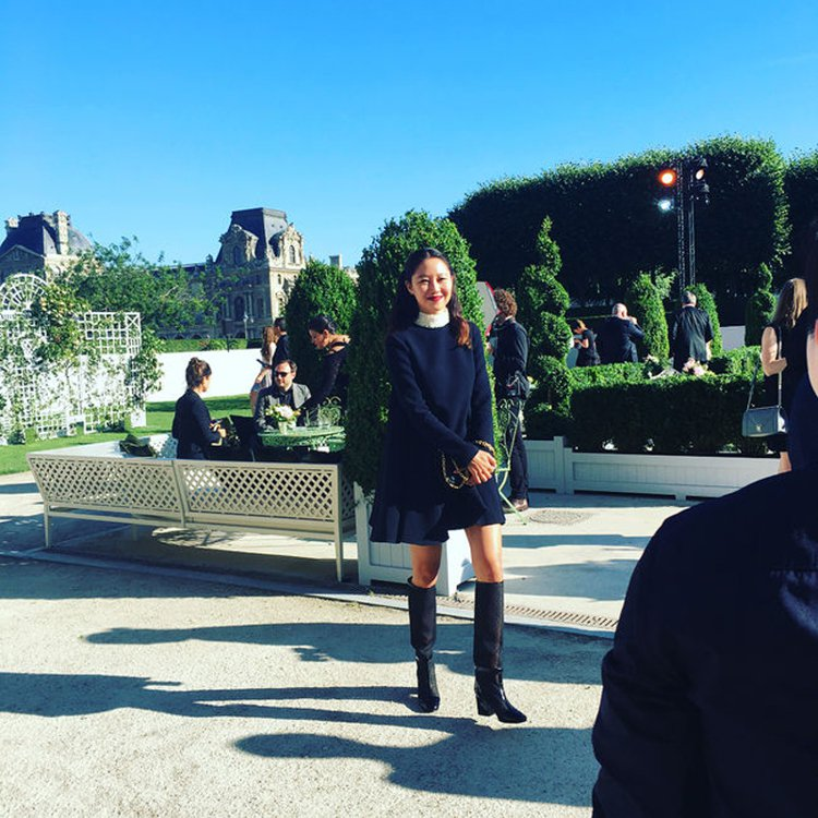 孔曉振以甜美造型出席Dior 70周年活動。圖/擷自instagram