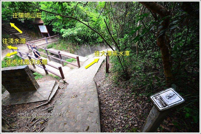 ↑紫崗橋是衛奕信徑中的中途點,也是很重要的叉路口,向東可至大潭篤水潭,向西可下淺...