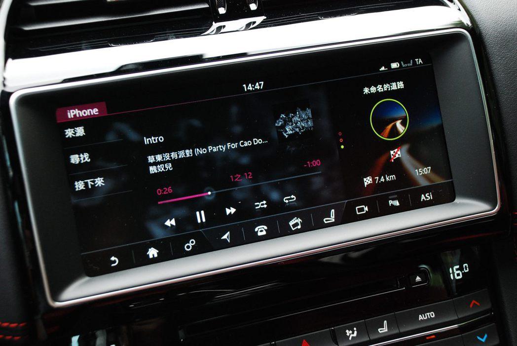 10.2吋InControl Touch Pro觸控式多媒體螢幕系統。記者林昱丞...