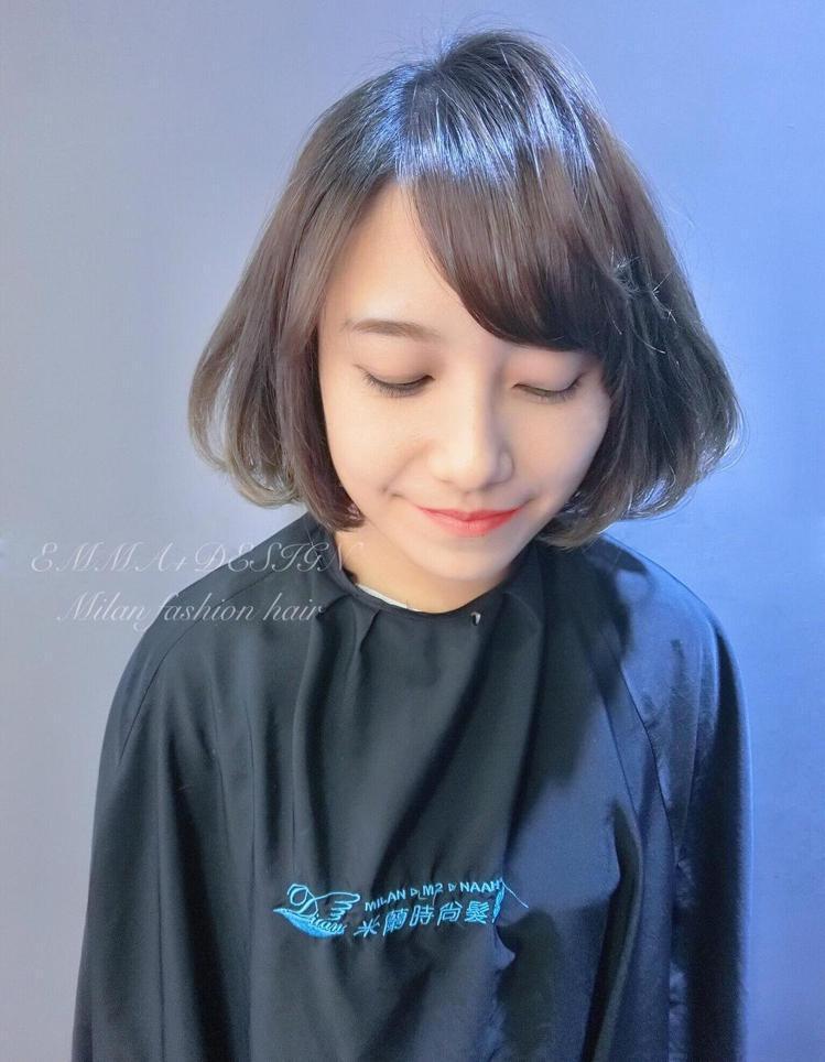 髮型創作/米蘭時尚髮型 金華二店 - Emma 。圖/HairMap美髮地圖提供
