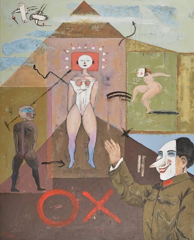 陳朝寶《是非題》,2016,複合媒材。圖/ 宏藝術提供。