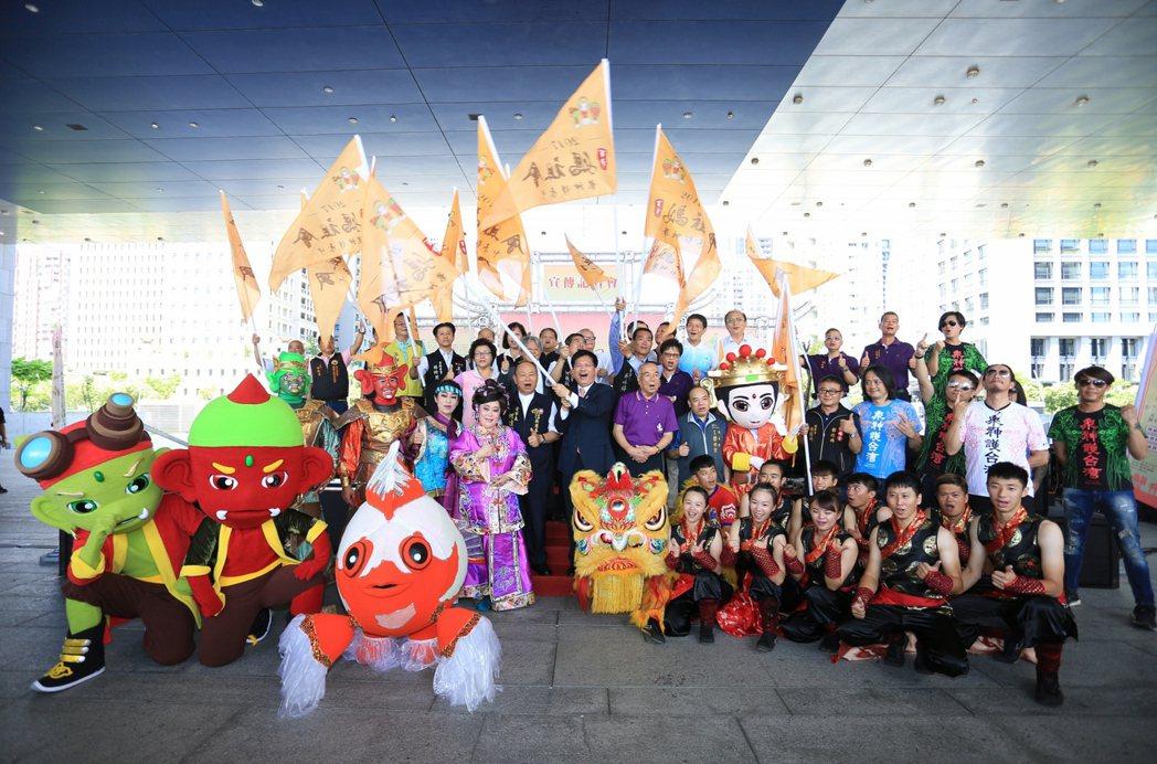 台中市舉辦「百年媽祖會:眾神護台中」,重現百年前歷史記憶。 記者喻文玟/攝影