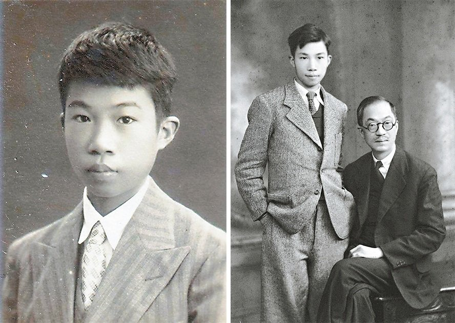 左:少年時期的王大閎。圖/阮慶岳提供右:1936年左右,王大閎入學英國劍橋大...