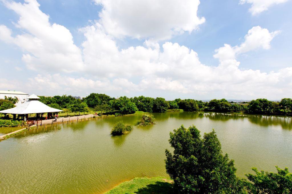 八德埤塘自然生態公園占地約5公頃,園區內打造步道、涼亭與親水空間,還有咖啡廳進駐...