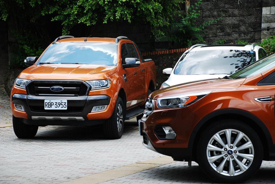 Ford Ranger與Kuga。記者林昱丞/攝影