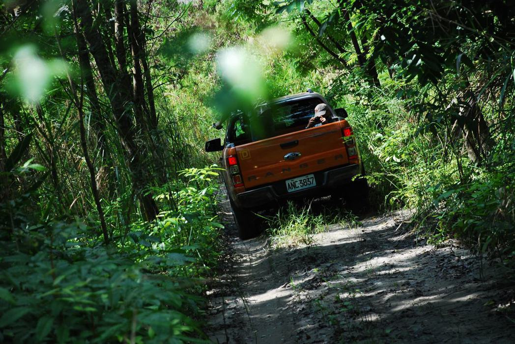 Ford Ranger深入叢林。記者林昱丞/攝影