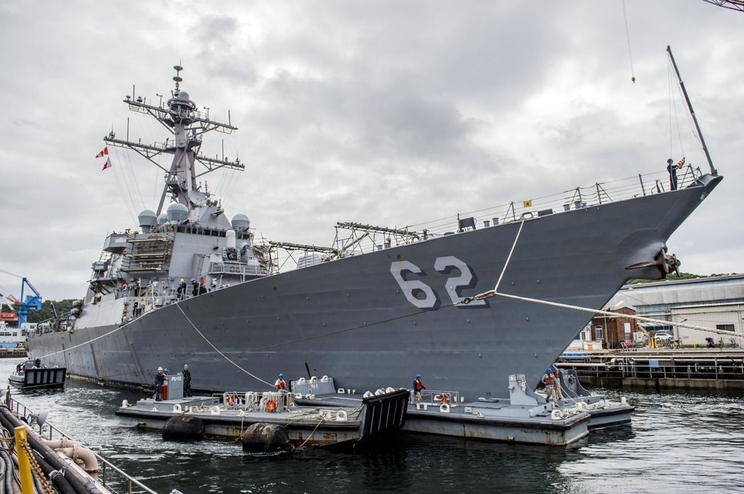 圖為美軍驅逐艦費茲傑羅號。 圖/美聯社