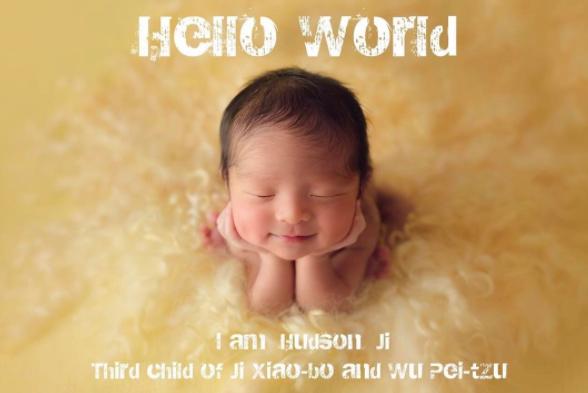吳佩慈6月底生下第三胎兒子Hudson。圖/摘自IG