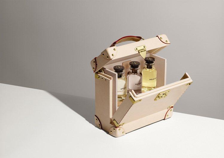 可裝三瓶香水的Flaconnier香水箱盒,價格店洽。圖/LV提供
