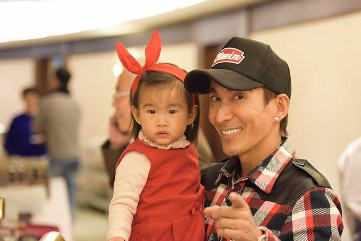 潘若迪和他可愛的女兒。圖/潘若迪臉書