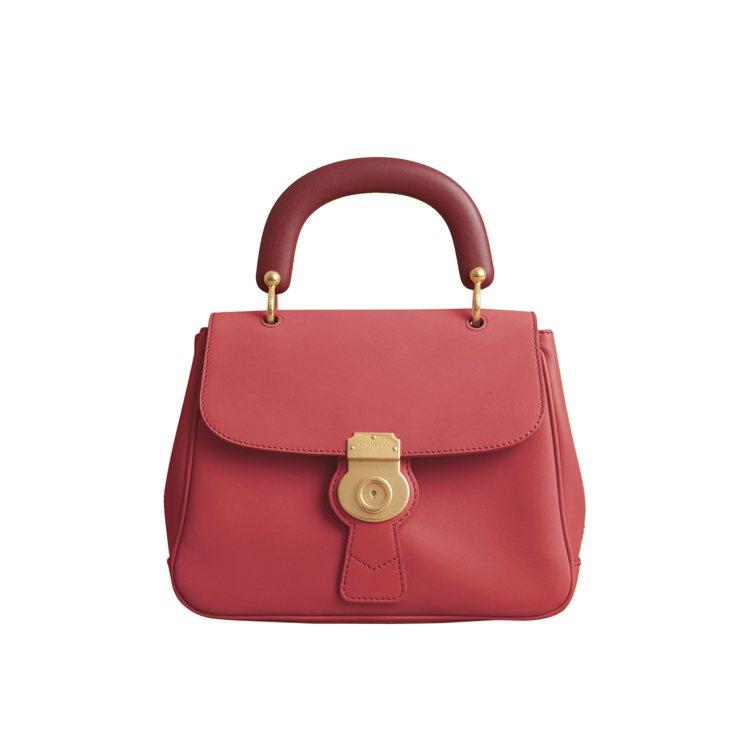 DK88中型提柄包花粉紅色,售價86,000元。圖/BURBERRY提供