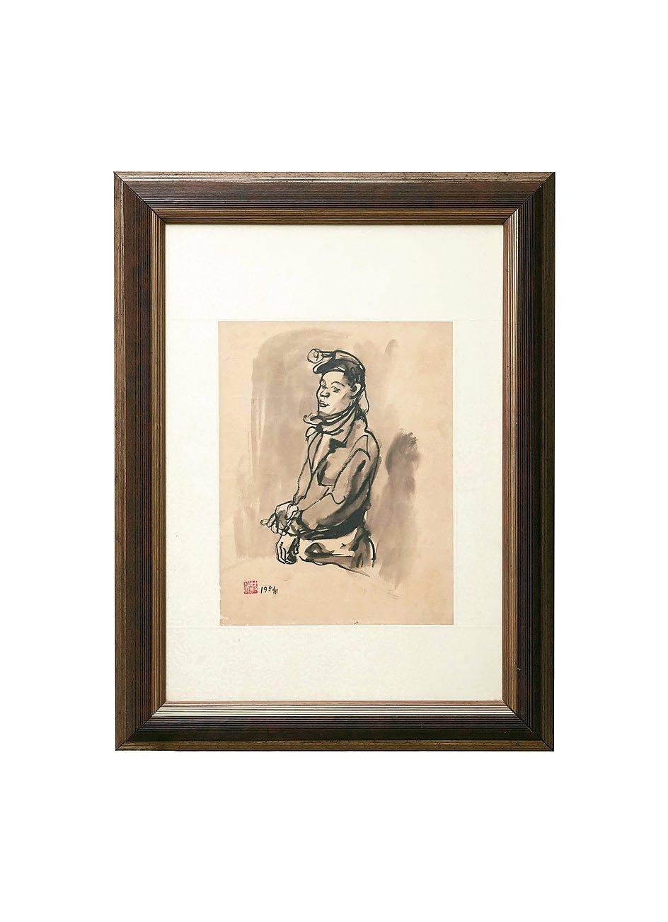 台灣畫家洪瑞麟以礦工為背景的畫作。 圖/劉芳伶提供
