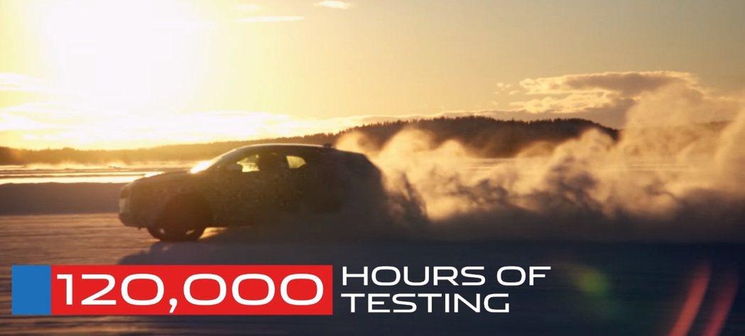 歷經12萬個小時的測試。 摘自摘自E-Pace測試影片