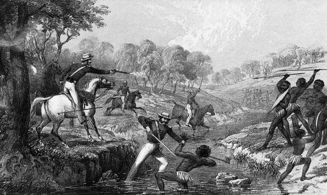 1838年5月1日新南威爾斯的「屠宰場溪大屠殺」(Slaughterhouse ...