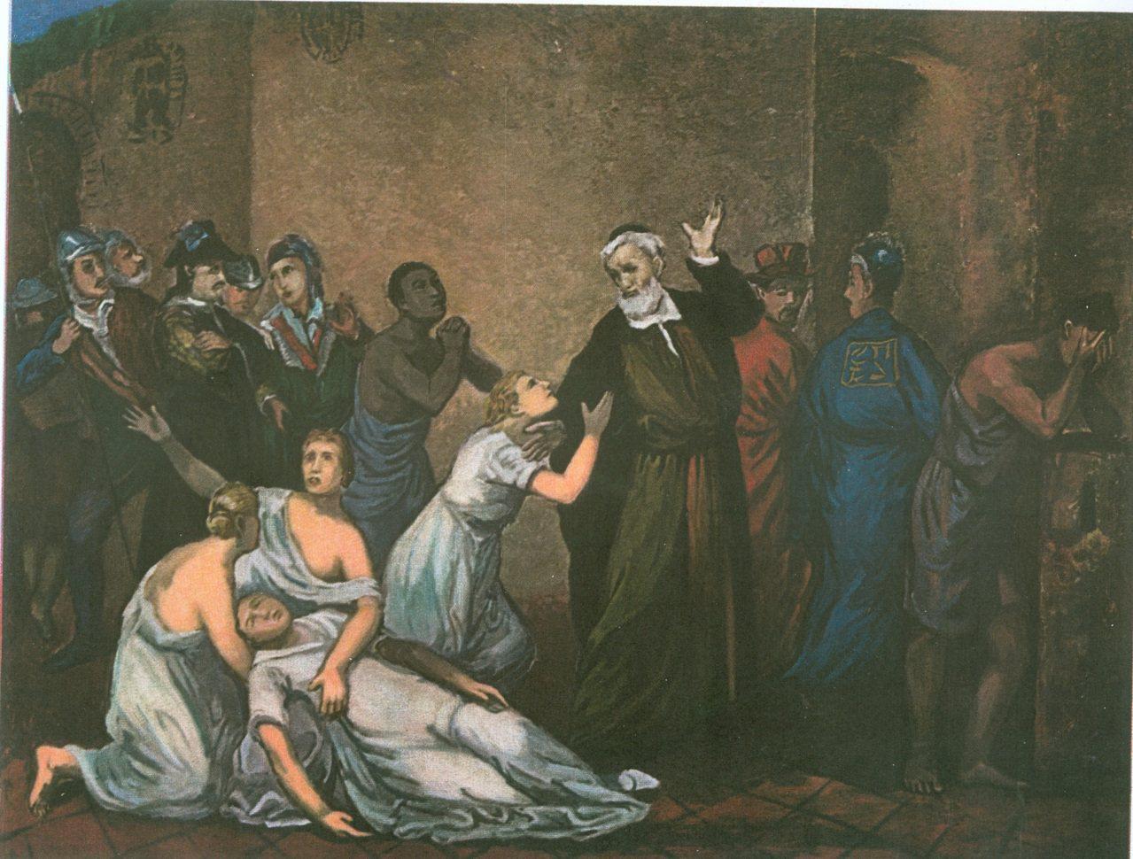 1661年鄭成功派荷蘭牧師亨布魯克(A. Hambroek)進入熱蘭遮城勸降荷蘭...