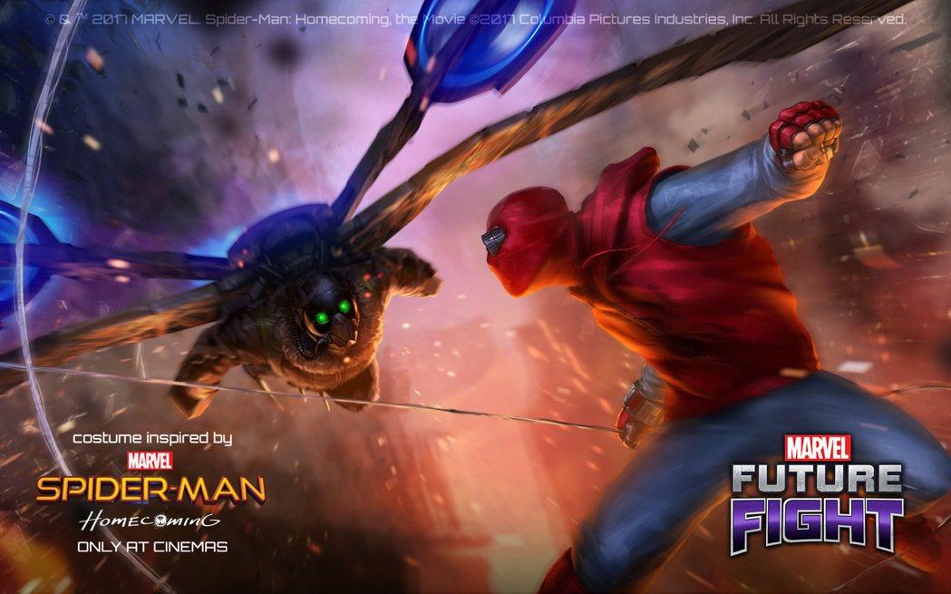 蜘蛛人最強大的敵人全面加入《MARVEL未來之戰》。 圖/網石棒辣椒提供